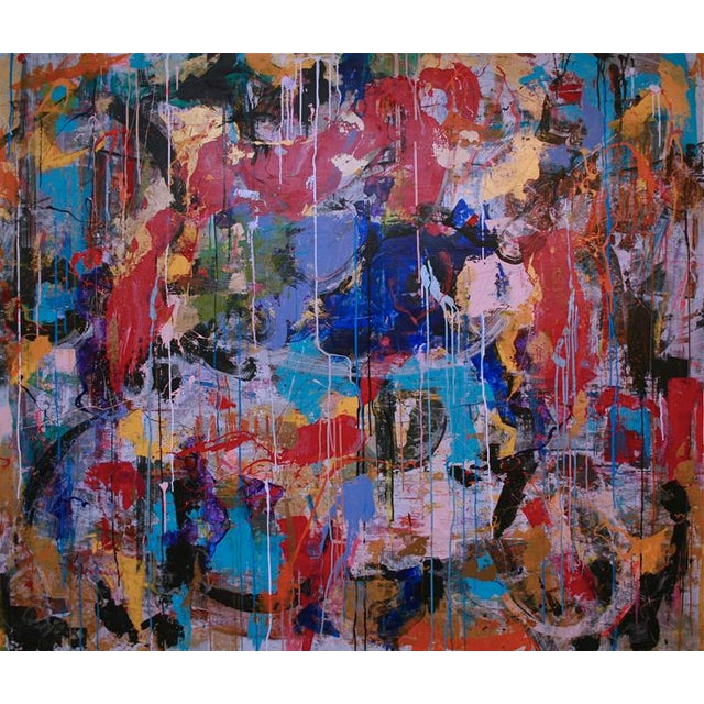 """Abstract Expressionism Contemporary Abstract Painting """"I Saw This When I Opened My Eyes"""" by Joseph Conrad-Ferm For Sale - Image 3 of 3"""