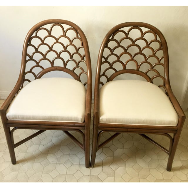 David Francis Brown Koi Side Chairs - A Pair - Image 2 of 10