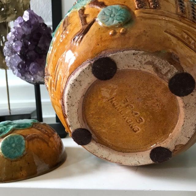 Vintage Majolica Ginger Jar For Sale - Image 5 of 5