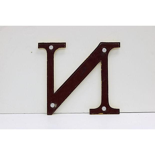 Vintage English marquee letter N salvaged from a pub sign. Mounting hardware not included. No maker's mark. scratches,...