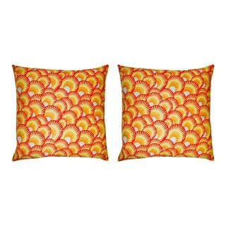 Trellis Home Carmen Shells Pillows - a Pair For Sale
