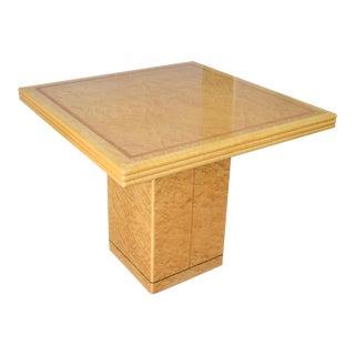 Laquered Burlwood Maple Table