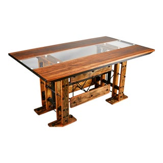 Industrial Modern Contemporary Dining Table For Sale