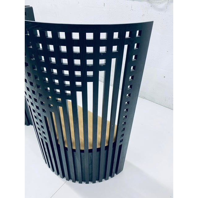 Charles Rennie Mackintosh Willow Chairs - a Pair For Sale - Image 9 of 13