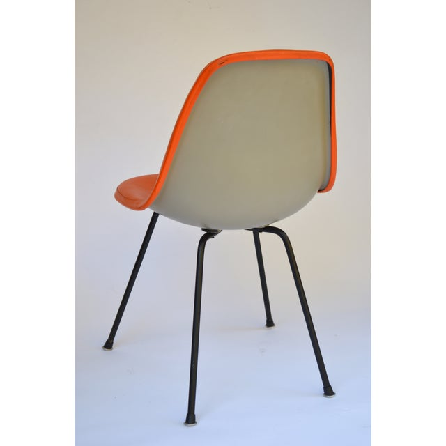 Herman Miller Eames Orange Vinyl Side Shell Chair For Sale In Los Angeles - Image 6 of 9