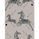 Sample, Scalamandre Zebras, Silver Wallpaper