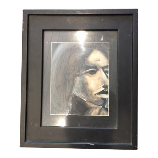 Abstract Portrait of Woman Framed Painting - Image 1 of 5