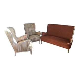 Mid-20th Century Chairs & Settee From Sweden For Sale