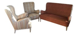 Image of Brick Red Settees
