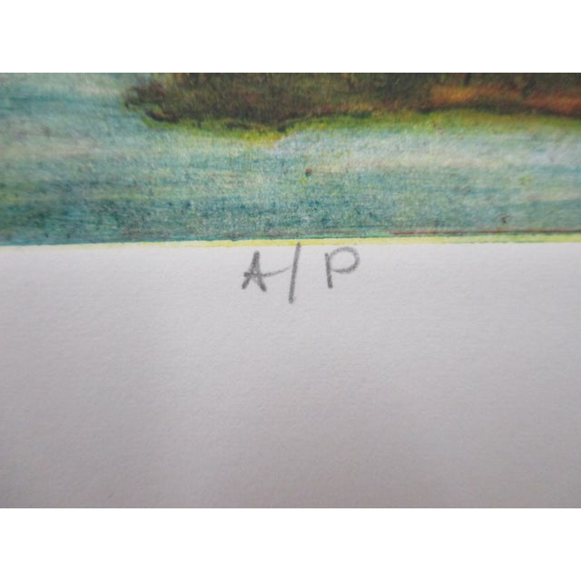 Modern Vintage Color Lithograph Titled: Creek Views Signed by the Artist For Sale - Image 3 of 6