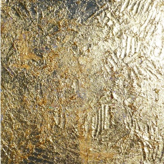 """""""Gold"""" Contemporary Gold Leaf Painting by Martha Holden For Sale"""