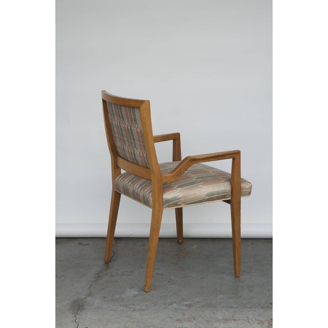 Maple Set of Six Elegant Mid-Century Modern Armchairs and Chairs For Sale - Image 7 of 9