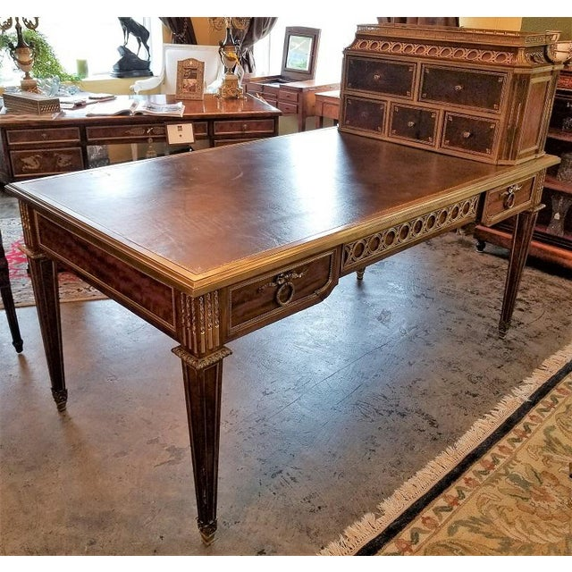 Presenting an absolutely stunning piece of extreme high end French furniture … a 19C Louis XVI Style Desk by Paul Sormani....