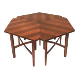 Image of 1960s Vintage Barney Flagg for Drexel Set of Three Occasional Table For Sale
