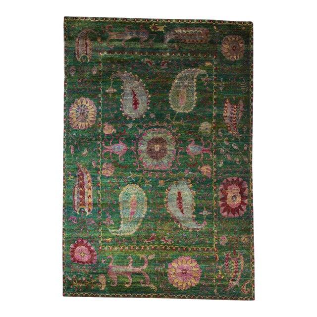 Eva Sari Silk Rug - 7′9″ × 11′6″ For Sale