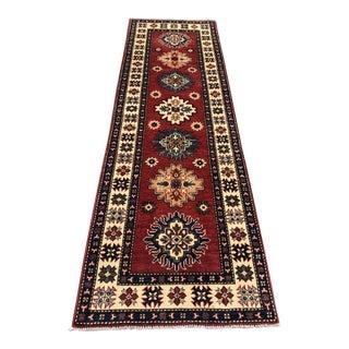 Traditional Kazak Turkish Rug Runner - 2′6″ × 6′7″