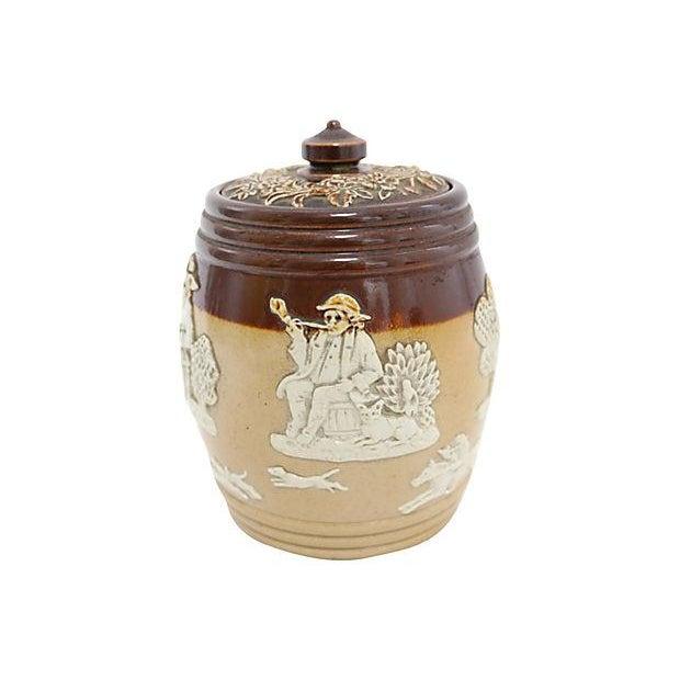 Antique Doulton Stoneware Tobacco Jar - Image 3 of 4