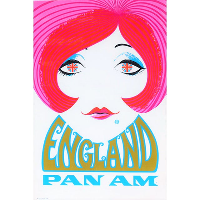 Reproduction Pan Am England Travel Poster - Image 2 of 4
