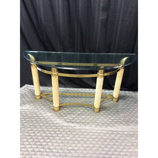 Mid-Century Modern Style Italian Console Table - Image 2 of 6