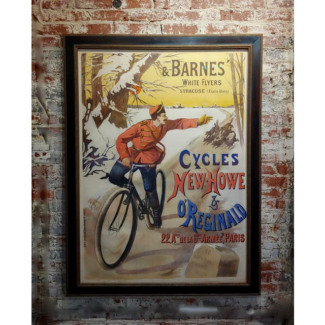 Gaston Fanty-Lescure Rare 1896 French Bicycle Poster For Sale - Image 9 of 9