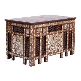 Anglo-Indian or Syrian Rectangular Inlaid Coffee Table For Sale