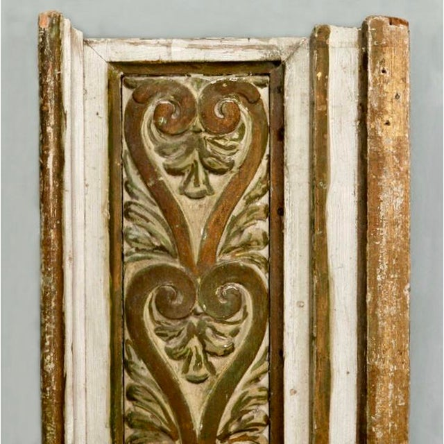 Early 20th Century French Gilded Hand Carved Architectural Element Wall Panel c.1900 For Sale - Image 5 of 5