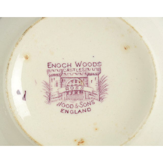 Ceramic Early 20th Century Wood & Sons Castles Purple Cranberry Bowl For Sale - Image 7 of 8