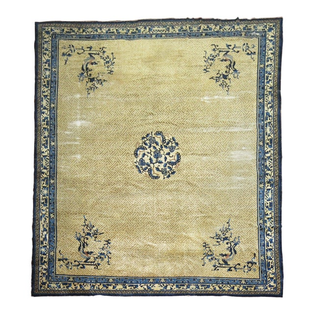 Overisze Antique Chinese Rug, 13'3'' X 17'9'' For Sale