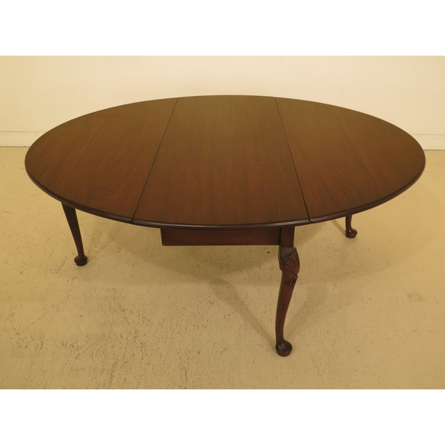 Brown 1960s Queen Anne Kittinger Colonial Williamsburg Mahogany Drop Leaf Table For Sale - Image 8 of 12