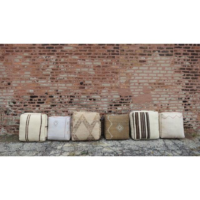 'Alpine' Beige Moroccan Floor Pillow For Sale - Image 4 of 4