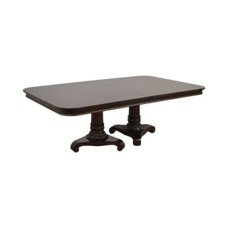 Century Wellington Court Double Pedestal Empire Style Dining Table For Sale