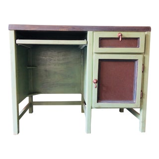 Small Painted Green Wooden Desk