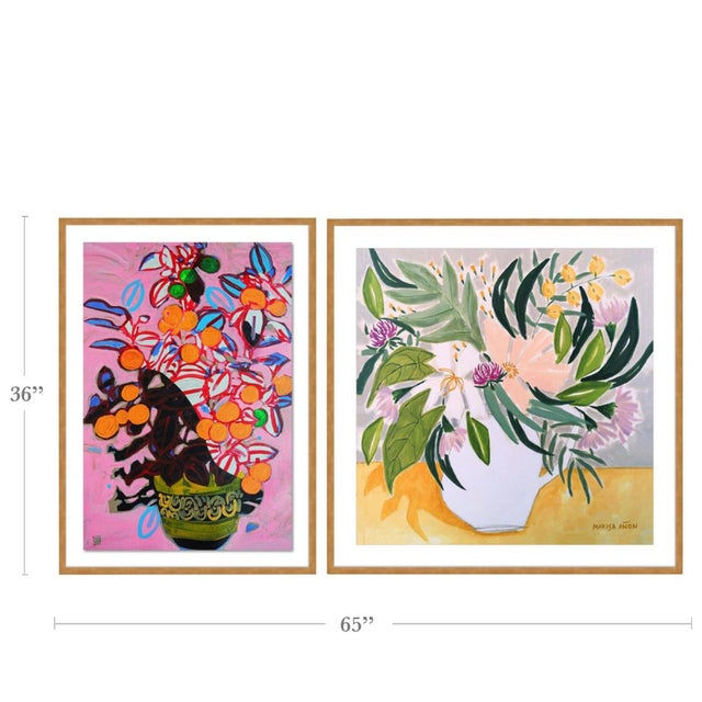 With the purchase of this item, you will be receiving the following prints, framed and ready to hang: 1. Flowers from...