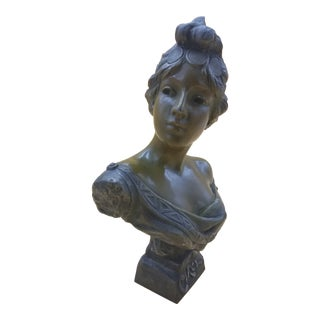 Late 19th Century Vintage Bronze Sculpture Titled Circe by E Villanis For Sale