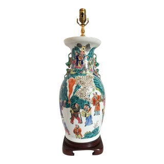Large Chinese Porcelain Lamp For Sale