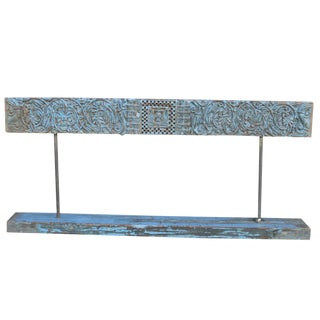 Aged Turquoise Lintel On Stand