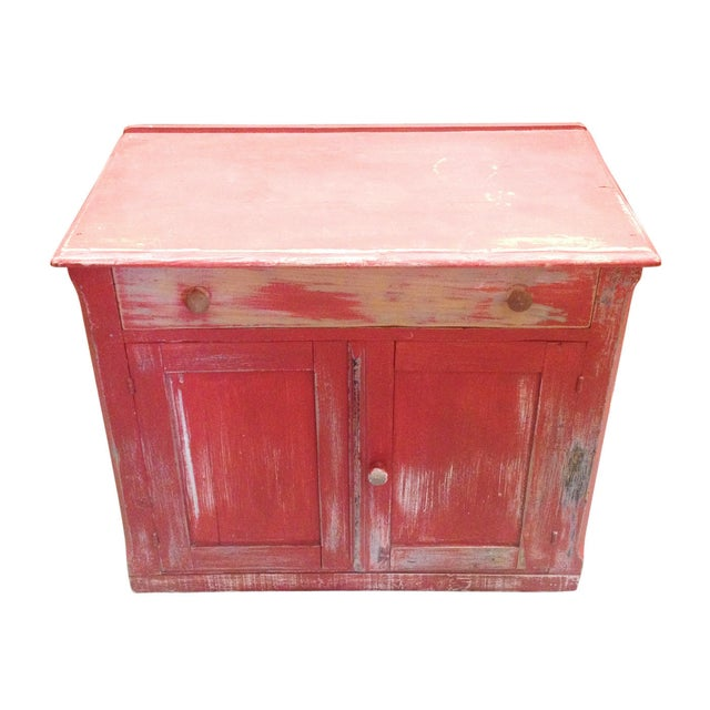 Red Painted Commode Chest - Image 3 of 7