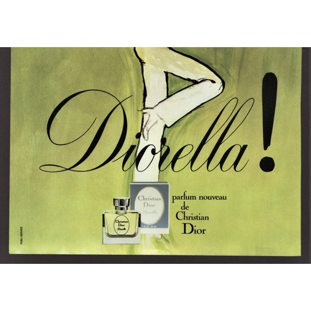 Contemporary Matted Dior Perfume Print by Gruau For Sale - Image 3 of 4