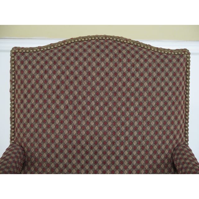 French Sherrill French Louis XV Style Upholstered Arm Chair For Sale - Image 3 of 13