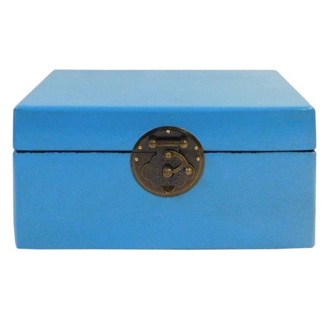 Light Blue Rectangular Container Box - Image 1 of 5