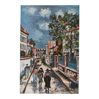 1950s Maurice Utrillo, Parisian Street Scene First Edition Lithograph For Sale