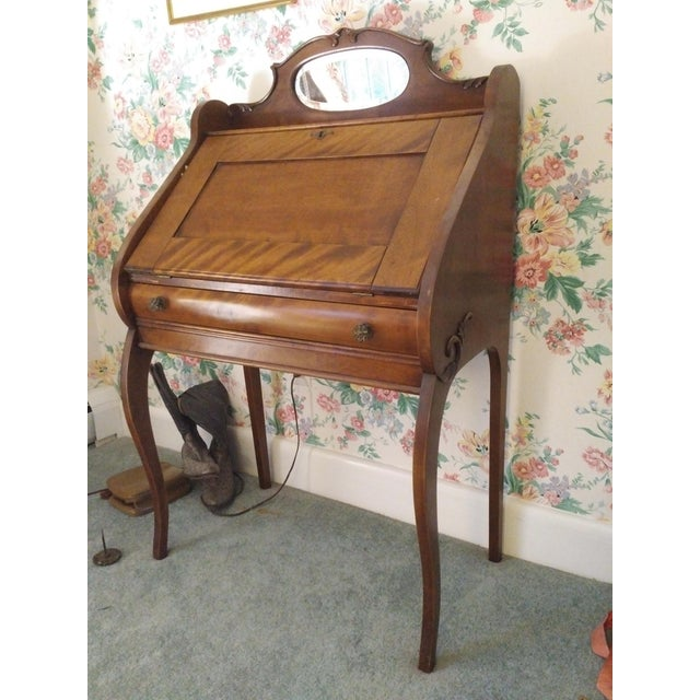 Cherry Petite Antique Writing Desk For Sale - Image 10 of 10