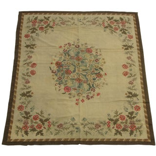 1920s Handmade American Hooked Rug - 7′9″ × 9′6″ For Sale