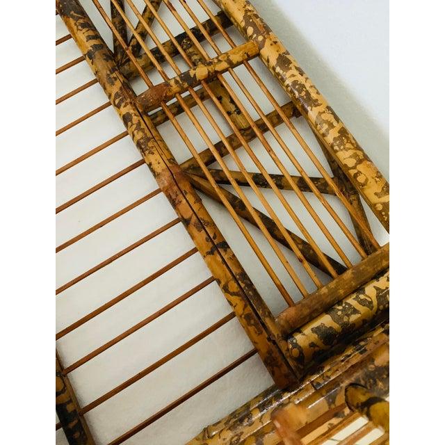 Copper 1910s / 1920s Tortoise Shell Burnt Bamboo Shelf For Sale - Image 8 of 9