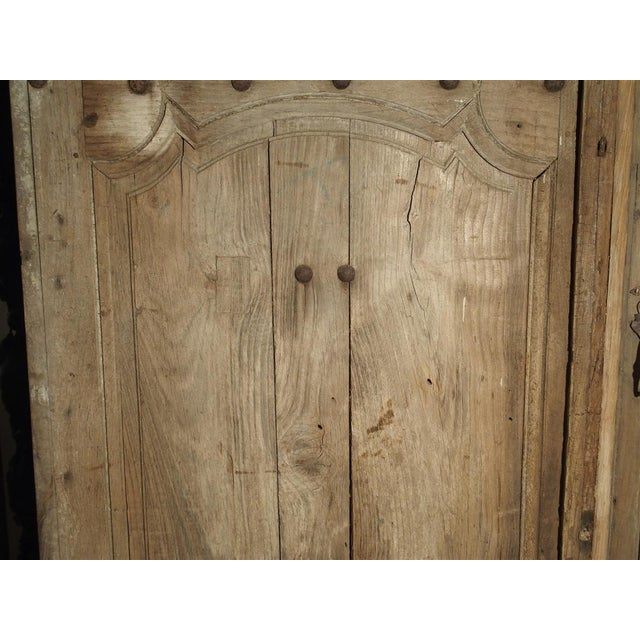 1700s Antique French Oak Doors From Burgundy- A Pair For Sale - Image 12 of 13