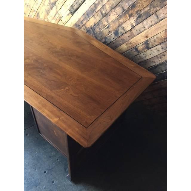 1970's Monteverdi Young Walnut Executive Desk - Image 8 of 9