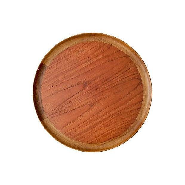 Danish Modern Teak & Walnut Tray Table For Sale - Image 4 of 6