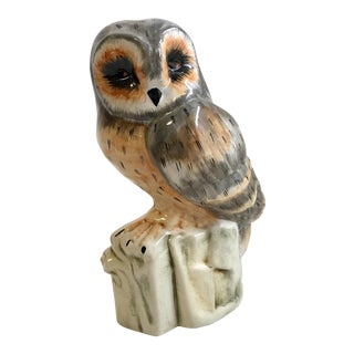 Italian Ceramic Owl Sculpture For Sale