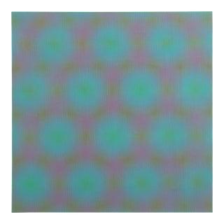 "Josef Levi, ""Green"", Op Art Screenprint For Sale"