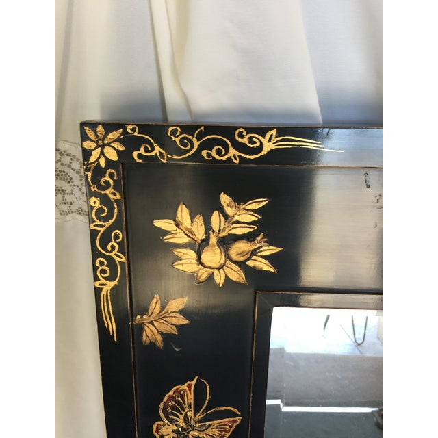 Chinoiserie Wal Mirror Decorated With Butterflies For Sale - Image 12 of 13